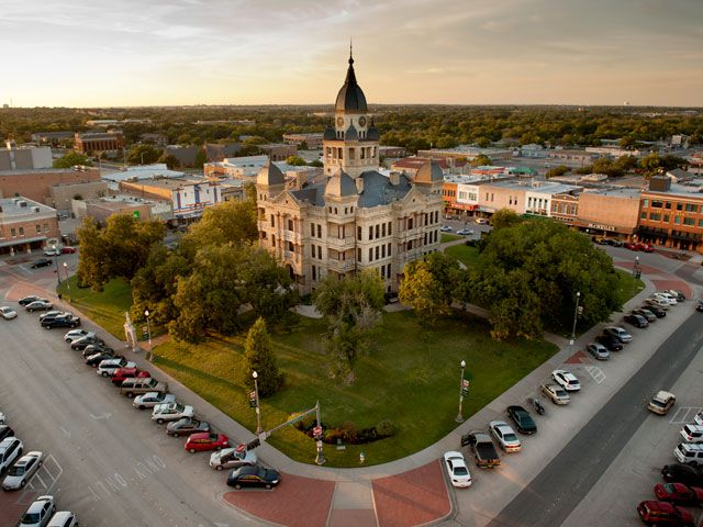 Visit the historic Denton County Courthouse, the centerpiece of downtown Denton.