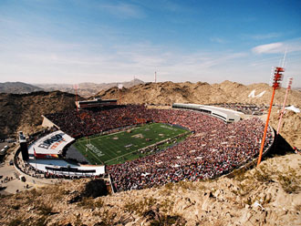 Sun Bowl Stadium is home to the UTEP college  football team.