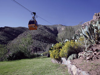 The Wyler Aerial Tramway in El Paso takes you up into the Franklin Mountains.