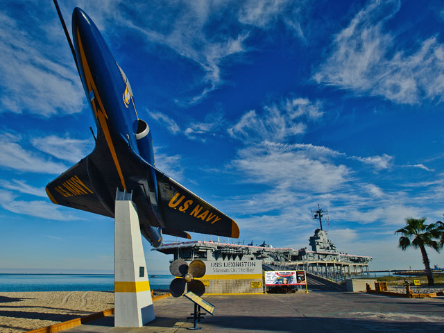 USS LEXINGTON Museum On The Bay  Tour Texas