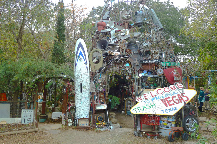 There's nothing quite like the Cathedral of Junk, a three-story trash heap turned roadside attraction.