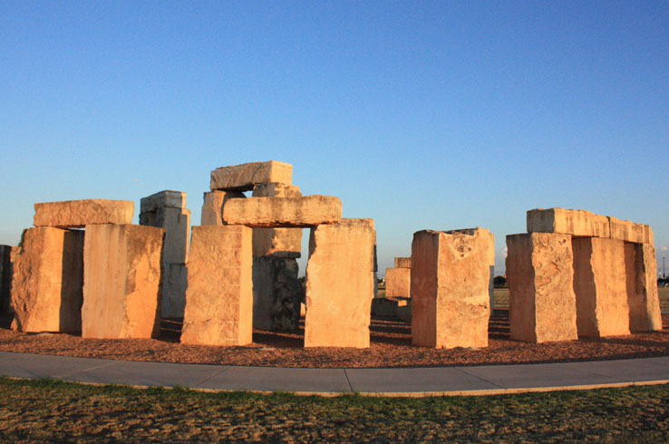 Visit Stonehenge in Odessa, Texas, one of the few astronomically-aligned recreations of the famous site in the world.