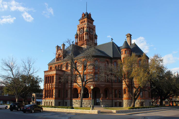 Waxahachie's Ellis County Courthouse is one of the most stunning, and photographed, courthouses in Texas.