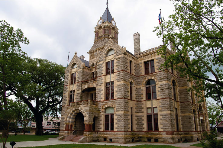 La Grange is home to one of the most beautiful courthouses in Texas: the Fayette County Courthouse.