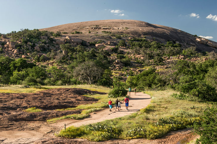 A view of the summit in the Enchanted Rock State Natural Area near Fredericksburg, Texas.