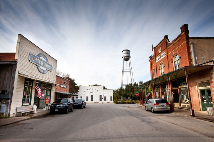 Gruene Hall in New Braunfels, Texas' oldest continuously operating dance hall, is today a live music venue that welcomes top talent.