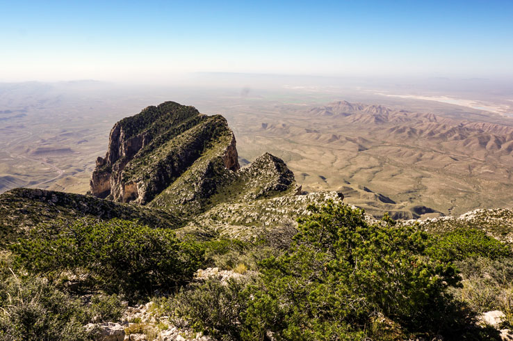 Guadalupe Peak, the highest point in Texas.
