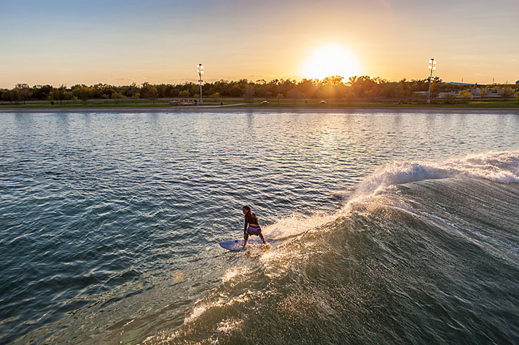 NLand Surf Park is one of the first surf parks in North America, and it's located in Austin!