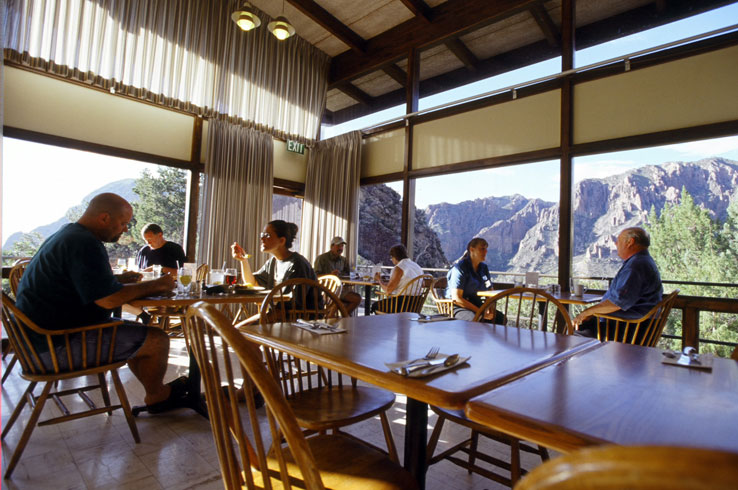 The restaurant at Chisos Mountains Lodge serves up great food and views that can't be beat.