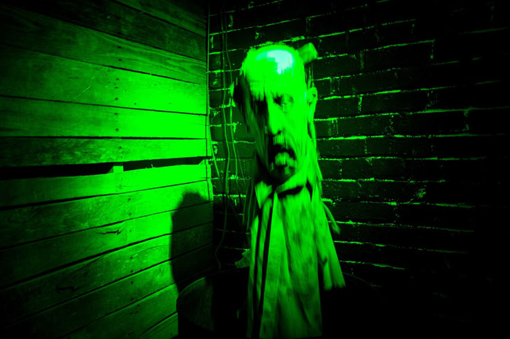 The Haunted Landmark in Greenville is a seasonal haunted house located in the basement of the town's old post office building.