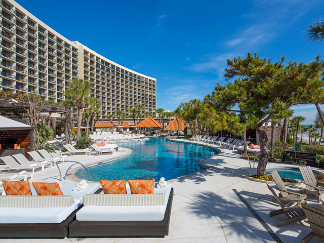 The San Luis Resort, Spa & Conference Center is a AAA Four Diamond Galveston hotel that offers luxurious accommodations and easy beach access.