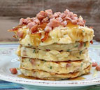 Ham and Swiss Griddle Cakes